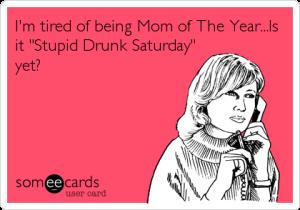 mom drunk